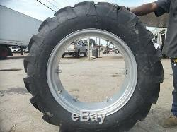 (2) 12.4x28 FORD JUBILEE 2N 8N Tractor Tires with Wheels & (2) 550x16 3 rib withtube