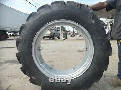(2) 12.4x28 FORD JUBILEE 2N 8N Tractor Tires with Wheels & (2) 650x16 3 rib withtube