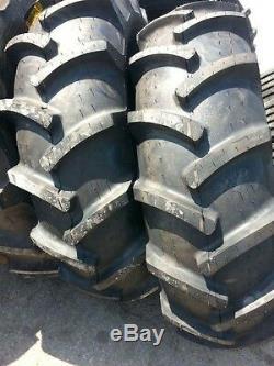 2 14.9x24 John Deere, Ford 8 Ply Tubeless Easy Repair Tractor Tires on Wheels