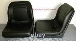 2 18 BLACK Vinyl Seats For ARCTIC CAT PROWLER Replaces 1506-925 ATV UTV