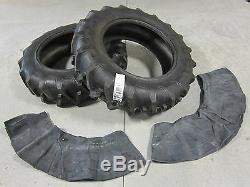 2 New 13.6x28 Tractor Tires + Innertubes Ford New Holland 8 Ply 13.6-28 13.6 28