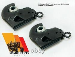 2 X Category Cat 2 Tractor Lower Link Quick release Hitch ball Hook weld on end