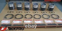 6 PISTON + Ring Sets For Dodge Ram 5.9L Cummins 24V 04-06 Teflon Coat STD OEM