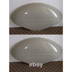 8N16312C Pair of Restoration Quality Fenders (2) with Fits Ford logo for 8N Jubile