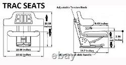 Black Ford / New Holland 2n 8n 9n Naa 640 Waffle Tractor Suspension Seat