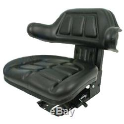 Black Wrap Back Tractor Suspension Seat Ford / New Holland 600, 601,800,801 #wc
