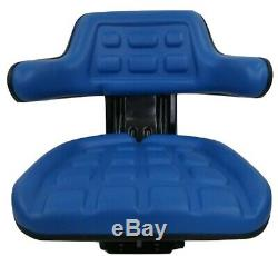 Blue Ford/new Holland 4000 4100 4110 4600 Su 4610 Tractor Suspension Seat #wd