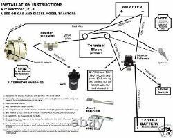 FORD 600 4000 TRACTOR GEN to ALTERNATOR CONVERSION KIT 12 Volt with belt