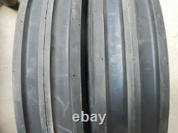 FORD JOHN DEERE (2) 11.2x28 Tractor Tires with Rims & (2) 550x16 3 rib withtubes