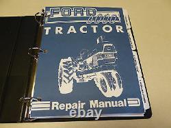 Ford 6000 Tractor Service Manual Repair Shop Book & Owners/Operators Manual NEW