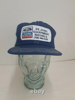 Ford New Holland Farm Tractor Trucker Vintage K Products Rare Patch Hat Cap IL