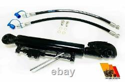 Hydraulic top link cat. 1 + 1 catch hook 210 mm stroke locking block hoses 19.2