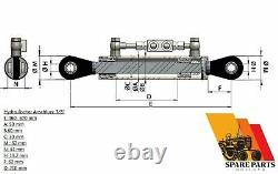 Hydraulic top link cat. 1-1 with locking block 460-670 mm with 2 x hose