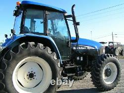 New Holland / Ford Tm130 Farm Tractor 4x4 Cab 1900 Hours Per Def No Electricly