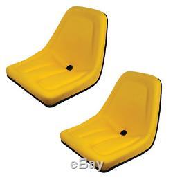 New Yellow Set of 2 Seats for John Deere Gator TM333YL Bobcat Skid Steer Case-IH