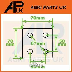 PAIR Extendable Mirror Arms & Heads Tractor Ford New Holland Massey Ferguson