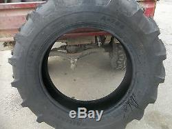 TWO 11.2x24 Ice Storm Sale Today Only Deere, Ford R1 Farm Tractor Tires