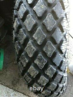 TWO 12.4x28, 12.4-28, 8ply Turf Tires withWheel & RED Center Massy Ferguson 50