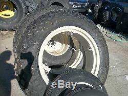 TWO 12.4x28 6 ply R3 & TWO 600x16 FORD JUBILEE 2n 8n Farm Tractor Tires withWheels
