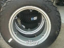 TWO 12.4x28 6 ply R3 Turf FORD JUBILEE 2n 8n Farm Tractor Tires withWheels