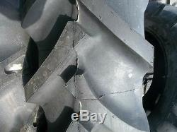 TWO 15.5x38 FORD JOHN DEERE 8 ply R 1 Bar Lug Tractor Tires