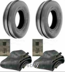 TWO 400X19, 4.00-19, 400-19 THREE Rib FORD 2N 9N Tractor Tires & Tubes