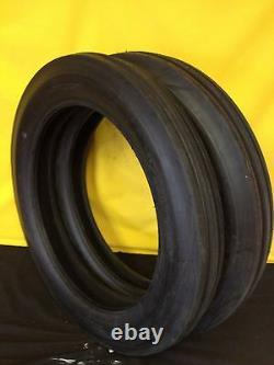 TWO 4.00-19 400-19 400x19 F-2 Tri 3 Rib Front Tractor Tire FORD 2N 9N