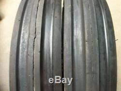 TWO 600x16,600-16,6.00-16 John Deere Ford Farmall 6 ply Triple Rib Tires