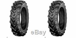 TWO 8x16 R1 Bar Lug Terramite Backhoe FORD-NEW HOLLAND 1120 Tractor Tires 8-16
