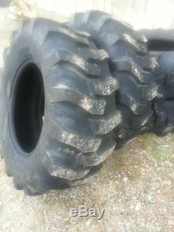 TWO New 17.5Lx24 R4 Tubeless 12Ply Kubota, John Deere Farm Tractor Tires