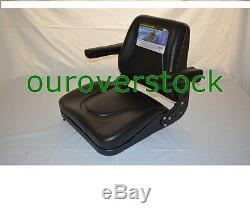 Universal Tractor Seat with Slide Tracks T500BL Kubota Ford Case IH Allis MF JD