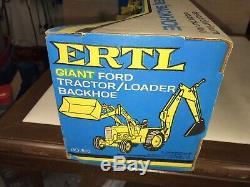 VINTAGE 1970s ERTL FORD 5550 TRACTOR LOADER BACKHOE ORIG BOX NOS NEW NO 820