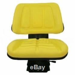 Yellow Tractor Suspension Seat For John Deere 5200 5210 5300 5310 5400 5410 #vd2